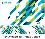 modern diagonal abstract... | Shutterstock .eps vector #788121895