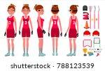 women's lacrosse vector.... | Shutterstock .eps vector #788123539