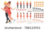 figure skating couple vector.... | Shutterstock .eps vector #788123551