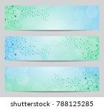 set of modern scientific... | Shutterstock .eps vector #788125285