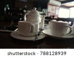 2 cups of coffe along with a...   Shutterstock . vector #788128939