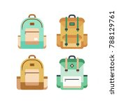 colorful set of backpacks in... | Shutterstock . vector #788129761