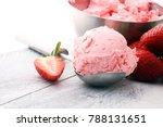 delicious strawberry ice cream... | Shutterstock . vector #788131651