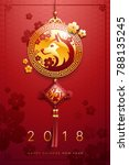 2018 chinese new year  year of... | Shutterstock .eps vector #788135245