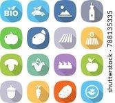 flat vector icon set   bio...   Shutterstock .eps vector #788135335