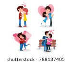 romantic valentine couple... | Shutterstock .eps vector #788137405
