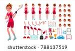 lacrosse player female.... | Shutterstock . vector #788137519