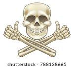 a cartoon halloween pirate... | Shutterstock .eps vector #788138665