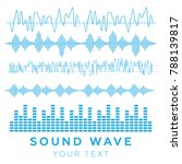 sound waves vector. sound waves ... | Shutterstock .eps vector #788139817
