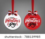 set of valentine's day labels... | Shutterstock .eps vector #788139985