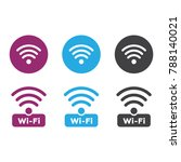 wireless and wifi icons.... | Shutterstock .eps vector #788140021