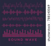 sound waves vector. sound waves ... | Shutterstock .eps vector #788140069