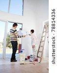 man going through house plan... | Shutterstock . vector #78814336