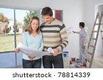couple going through house plan ... | Shutterstock . vector #78814339