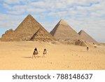 a train of camels walks through ... | Shutterstock . vector #788148637