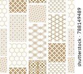 japanese pattern vector. gold... | Shutterstock .eps vector #788149489