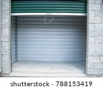 self storage unit with door... | Shutterstock . vector #788153419