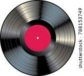 vinyl lp with red blank label ... | Shutterstock .eps vector #788153749