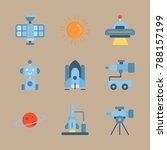 icon set about universe with... | Shutterstock .eps vector #788157199