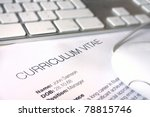 close up of a cv document with... | Shutterstock . vector #78815746