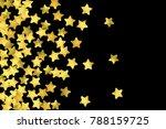 golden confetti isolated on... | Shutterstock .eps vector #788159725
