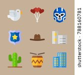 icon set about united states... | Shutterstock .eps vector #788160781
