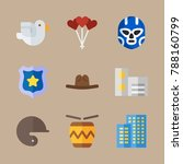 icon set about united states... | Shutterstock .eps vector #788160799
