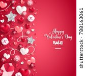 happy saint valentine's day... | Shutterstock .eps vector #788163061