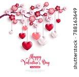 happy saint valentines day...   Shutterstock .eps vector #788163649