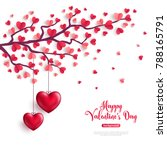 happy saint valentines day... | Shutterstock .eps vector #788165791