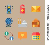 icon set about travel with... | Shutterstock .eps vector #788166229