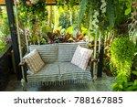 swing in the garden  sitting... | Shutterstock . vector #788167885