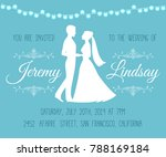 wedding invitation with... | Shutterstock . vector #788169184