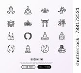 buddhism thin line icons set ... | Shutterstock .eps vector #788173531