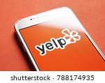 Small photo of JYVASKYLA, FINLAND - JANUARY 4, 2018: Yelp logo on smartphone screen. Yelp is a website that publish crowd-sourced customer reviews and ratings for local businesses. Illustrative editorial.