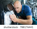the bodyworker repair the car... | Shutterstock . vector #788176441