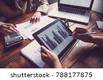 business team working with...   Shutterstock . vector #788177875