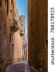 Malta Mdina  Street In Mdina...