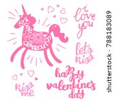 happy valentine's day.... | Shutterstock .eps vector #788183089