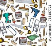set of building repair tools ... | Shutterstock . vector #788187721