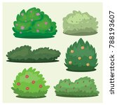 set of different bushes on a... | Shutterstock .eps vector #788193607