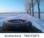 open top land rover in winter | Shutterstock . vector #788193871