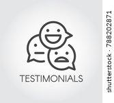 testimonial line icon. positive ... | Shutterstock .eps vector #788202871