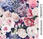 seamless floral pattern with... | Shutterstock .eps vector #788204371