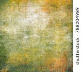 abstract messy painted antique... | Shutterstock . vector #788204989