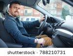 portrait of man in his car ... | Shutterstock . vector #788210731