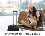 asian woman teenager using... | Shutterstock . vector #788213671