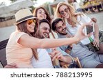 summer holidays vacation and... | Shutterstock . vector #788213995