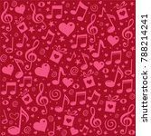 valentine's day background with ... | Shutterstock .eps vector #788214241