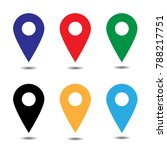 vector of map pointer icon set. ...   Shutterstock .eps vector #788217751
